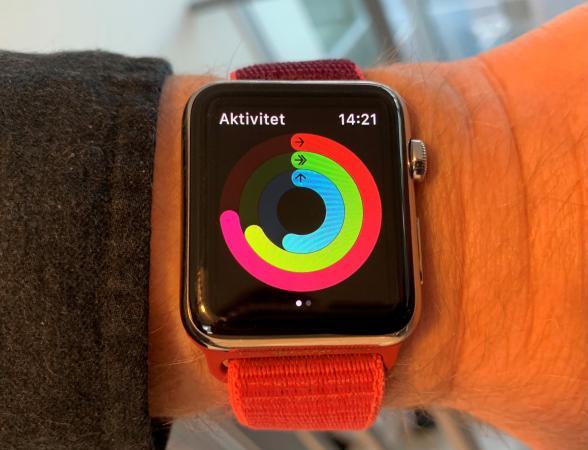 Apple klockan är en fyrkantig armleds klocka för synskadade
